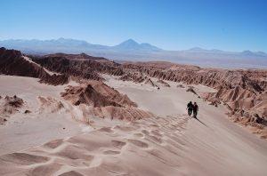 Os desertos da Chama e do Atacama.