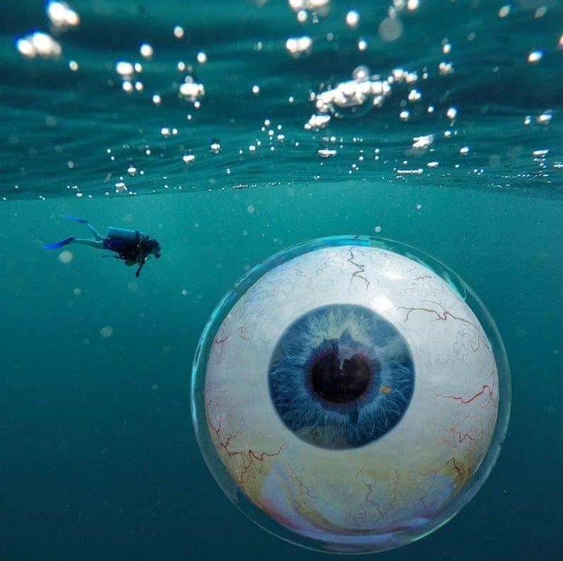 olho no oceano